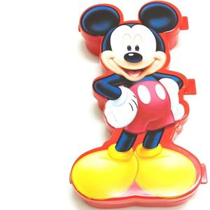 SKI Easy carry Mickey Mouse Art Plastic Pencil Box  (Set of 1, Red)
