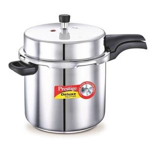 Prestige Deluxe Alpha 10 L Induction Bottom Pressure Cooker  (Stainless Steel)
