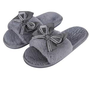 Fur Grey Comfortable Indoor & Outdoor Slippers |Womens Flipflop |Womens Fancy Slippers |Girls Slippers flip Flop Slides