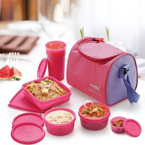 Cello Sling 5 Containers Lunch Box  (1100 ml)