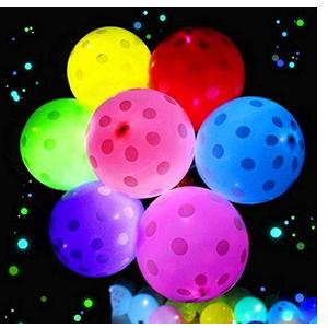 Miss & Chief Printed Pack of 15 Polka Dots Led Multicolor Light up Balloons with Glowing Effect for Parties Balloon  (Multicolor, Pack of 15)