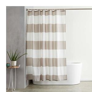 4ce3c1fd557 AmazonBasics Water Repellant Shower Curtain with Hooks - 72