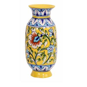 902a5cd084e Aditya Blue Art Pottery Ceramic Unique Handmade Decorative Vase (7.62 cm x  7 cm x