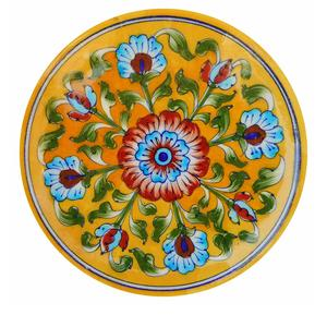 22434fe4326 Aditya Blue Art Pottery Ceramic Decorative Wall Hanging Handmade Plate (15  cm x 15 cm