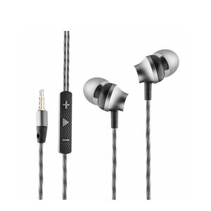 Ambrane EP-60 in-Ear Metal Headphones with Mic (Black)
