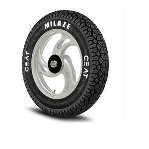 Ceat Milaze 90/100-10 53J Tubeless Scooter Tyre,Front or Rear (Home Delivery)