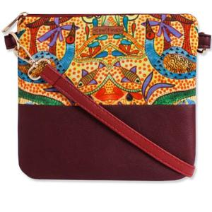 CRAFTHUES  Women Evening/Party, Casual Multicolor Leatherette, Cotton, Polyester Sling Bag