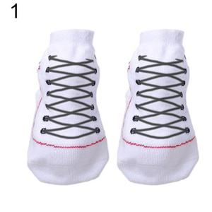 1 Pair of Cute Toddler Infant Baby Comfy Cotton Boots Sole Shoes Socks - White