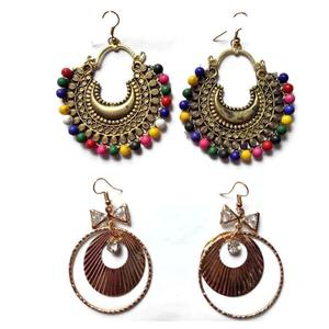 Manasvini Fancy Multi Colour Earrings for Kids and Girls - Combo Pack of 2 sets