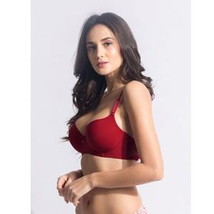 Susie Raspberry Red Moulded T-shirt Bra With Lace Wings