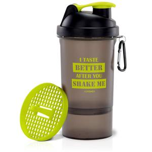 Adrenex by Flipkart 500ml, BPA Free, Microwave Safe Shaker with Single Storage Compartment & Mixer Mesh  (Pack of 1, Green, Grey)#JustHere