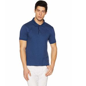 Amazon Brand - Symbol Men's All Over Printed Polo T-Shirt (AW17PLK69_XL_Fox Blue)