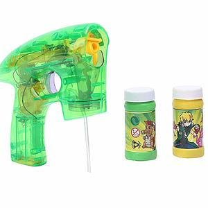 Gooyo My Kids 10 Battery Operated LED Toy Bubble Shooter Gun for Outdoor Fun for Boys/Girls