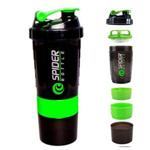 QUINERGYS ® Spider Protein Shaker Bottle for Gym - 500ml - Green 600 ml Shaker  (Pack of 1, Green)