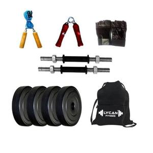Lycan 10 kg dumbbell Set ( 2.5 kg x 4 weight plates ) Home Adjustable Dumbbell  (10 kg)