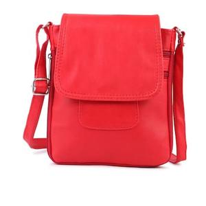 GLORIST Women Solid Leather - Sling Bag Red
