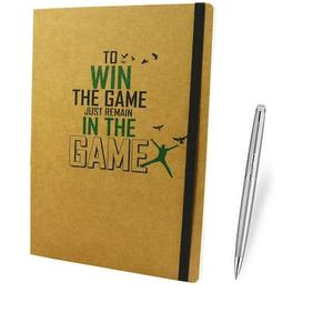 Bluto Win The Game Notebook High Quality 150 Pages Noteboo With Luxury Stainless Steel Pen