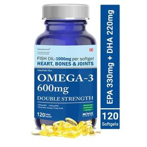 Carbamide Forte Omega 3 Fish Oil 1000mg Double Strength (330mg EPA & 220mg DHA) - 120 Softgels