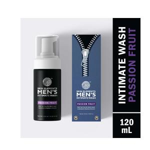 Skin Elements Men's Intimate Wash with Passion Fruit, 120 ml (Hygiene wash for Men)