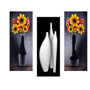 SAF Floral Art 6MM MDF Framed set of 3 Digital Reprint 15 inch x 18 inch Painting