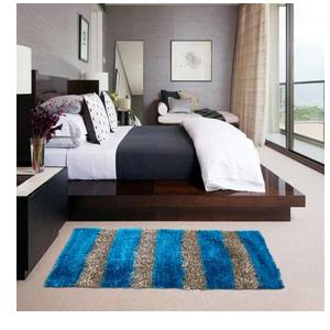 Glamkart Blue Cotton Runner  (61 cm X 152 cm)