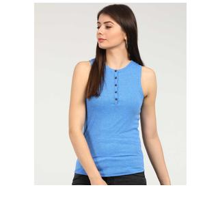 GAP  Casual Sleeveless Striped Women Blue Top