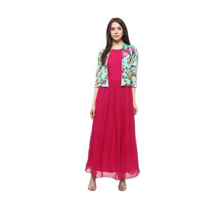 Athena  Women Maxi Multicolor, Pink Dress