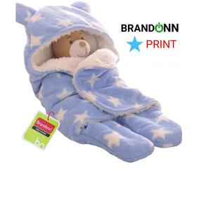 BRANDONN Sleeping Bag for Babies, 30-inch (Star Blue)