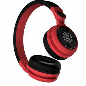 Nu Republic Starboy X-Bass Wireless Headphone with Mic (Red & Black)