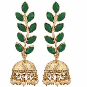Zeneme Antique Rhodium Plated Dangler and Jhumka styled Earrings for girls and women