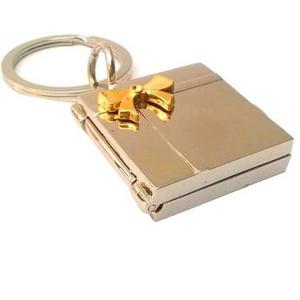 Brndey Best Friend Photo Frame Locking Key Chain  (Gold)