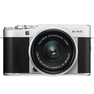 Fujifilm X Series X-A5 Mirrorless Camera Body with 15 - 45 mm Lens F3.5 - 5.6 OIS PZ  (Silver, Black)