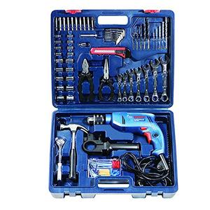 Bosch Mechanic Kit GSB 550-Watt Impact Drill Kit (Blue Range, 122-Pieces)