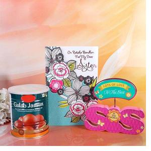 Gulab Jamun With Desk Quotation Hamper For Sister