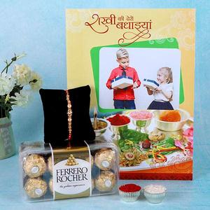 Personalized Greeting Card With Ferrero Rocher Box Hamper