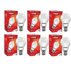 Eveready 9 W Globe B22 LED Bulb  (White, Pack of 6)