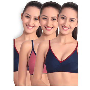 Floret Pack of 3 Full-Coverage Bras
