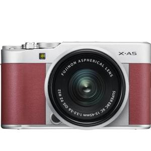 Fujifilm X Series X-A5 Mirrorless Camera Body with 15 - 45 mm Lens F3.5 - 5.6 OIS PZ  (Silver, Maroon)