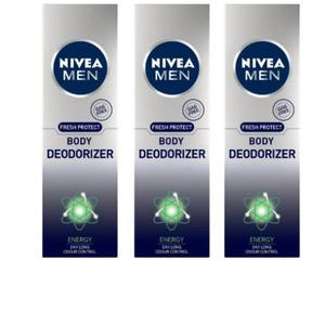 Nivea MEN Fresh Protect Body Deodorizer Energy Deodorant Spray - For Men  (360 ml, Pack of 3)