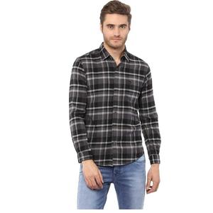 Mufti  Men Checkered Casual Spread Shirt