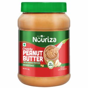 Nouriza Peanut Butter Protein Fortified Unsweetened, 1 KG