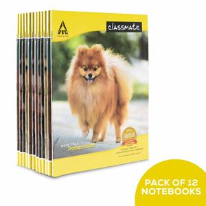 Classmate Notebook - Soft Cover, 172 Pages, 190x155mm, Single Line - Pack of 12