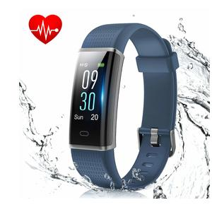 MUZILI Smart Fitness Band, Activity Tracker with Heart Rate Monitor, IP68 Waterproof 14 Sport Mode Activity Band Smart Bracelet Color Screen Fitness Tracker for Any Type of Smartphones