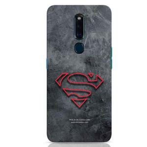 Superman Logo Line Oppo F11 Pro Mobile Cover