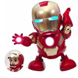 parthishy traders Musical Dancing Superhero Iron Man Action Figure with Openable Iron Man  (Red)