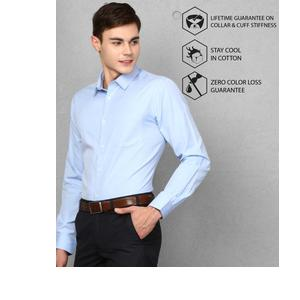 Metronaut  Men Solid Formal Spread Shirt
