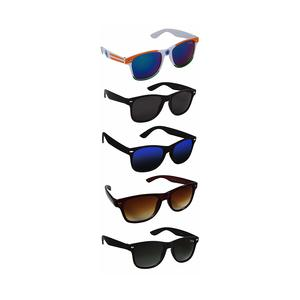 Silver Kartz UV 400 Protection Unisex Sunglasses (aio5, Black) - Pack of 5