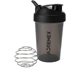 Adrenex by Flipkart BPA Free Gym Bottle with Mixer Ball 500 ml Shaker  (Pack of 1, Black, Grey)
