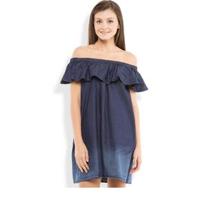 Tokyo Talkies  Women Shift Dark Blue Dress