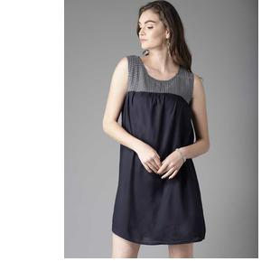 Moda Rapido  Women A-line Dark Blue Dress